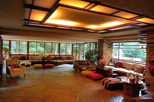 Novarchi la casa sulla cascata di frank lloyd wright for Frank lloyd wright piani casa della prateria